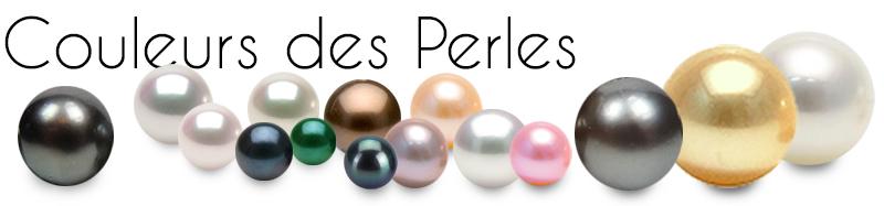 COULEURS DES PERLES DE CULTURE