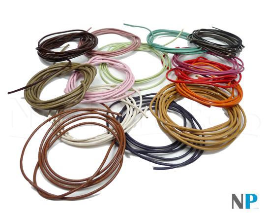 cordon cuir pour bracelets ou pendentifs