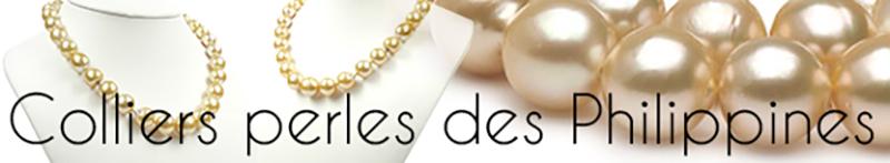 Collier de perles des philippines - perles dorees - perles spheriques - perles rondes