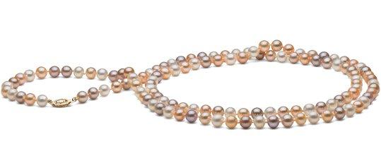 Sautoir 90 cm de perles d'eau douce DOUCEHADAMA couleurs naturelles