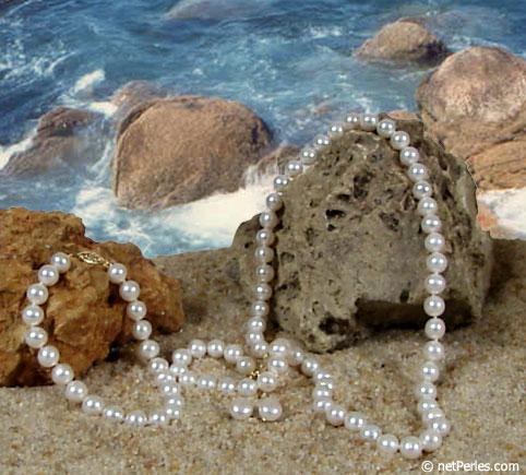 Parure 3 gioielli di perle d'acqua dolce