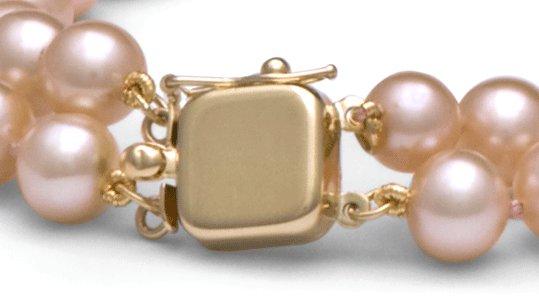 Fermoir or 14 carats pour double rang de perles