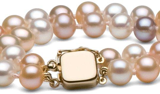 Fermoir en or 14 carats pour double rang de perles