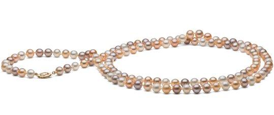 Collier 90 cm de perles d'eau douce multicolores