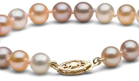 Fermoir collier de perles d'eau douce