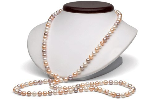 Collier 90 cm de perles de culture d'eau douce
