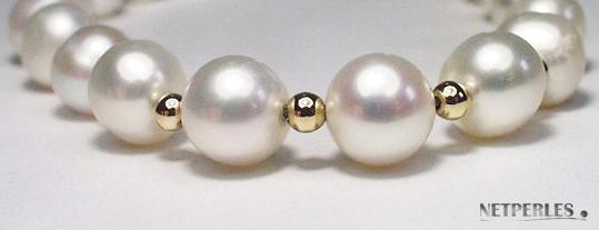 Bracelet de perles de culture d'eau douce et or