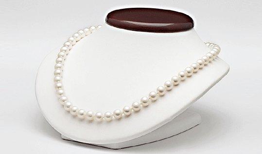 Bust avec collier 45 cm de perles de culture d'eau douce