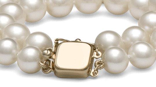 Fermoir double rang de perles de culture