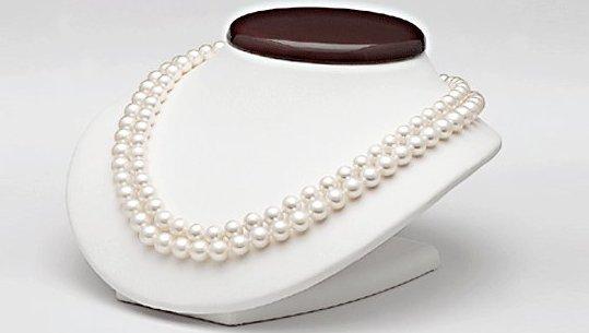 Collier double rang de perles de culture d'eau douce