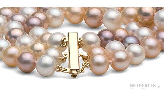 collier perle 3 rang