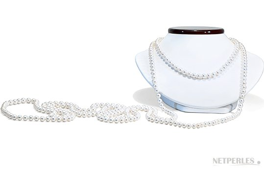 Sautoir 305 cm de perles d'eau douce