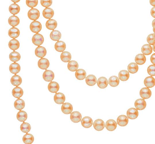 Un gros plan sur ces perles couleur naturelle pastel, teinte délicate et lumineuse