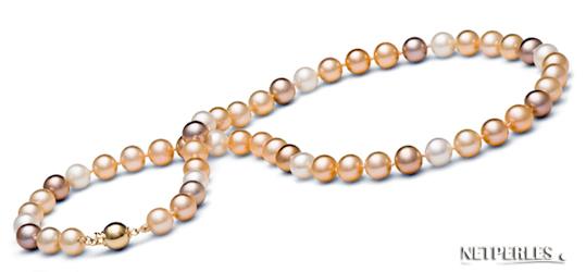 collier de perles multicolores