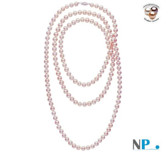 Sautoir de perles Lavandes Doucehadama