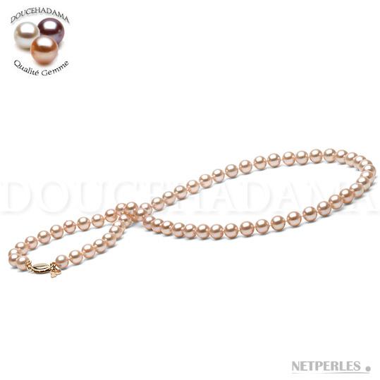 Collier de perles de culture d'Eau Douce DOUCEHADAMA Pêche de 6,5 à 7,0 mm