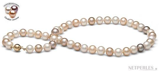 Collier 45 cm de perles d'eau douce Doucehadama