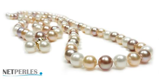 parure de perles de culture d'eau douce composée de 3 bijoux distincts