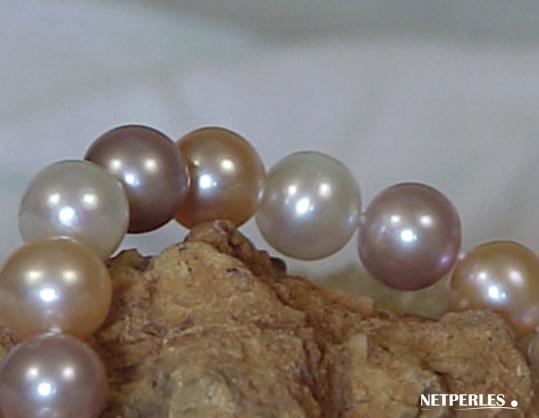 Perles d'eau douce multicolores