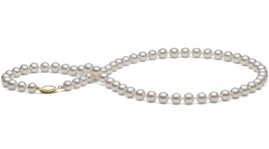 Collier 45 cm de perles d'eau salée Akoya