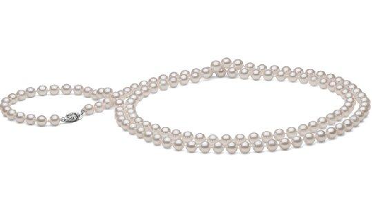 Collier de perles de culture Akoya blanches