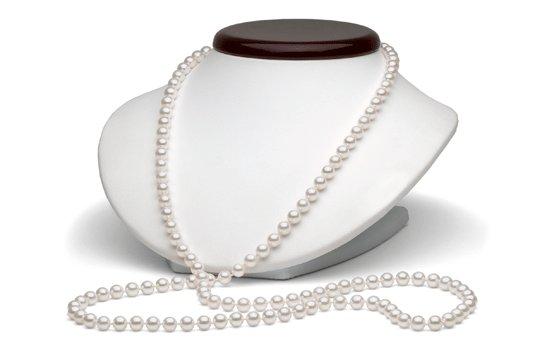 Collier de 90 cm de perles de culture d'eau salée Akoya du Japon