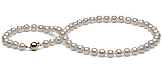 Collier de perles blanches de culture Akoya