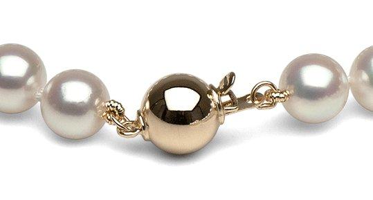 Fermoir en or 14 carats pour collier de perles de culture