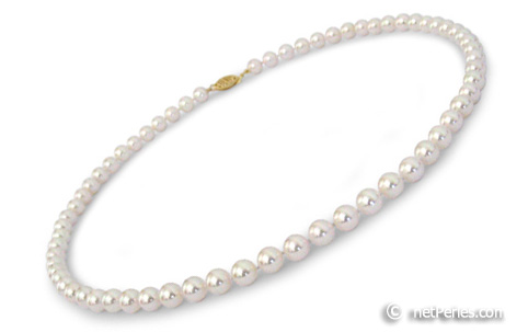 collier perle culture 6mm
