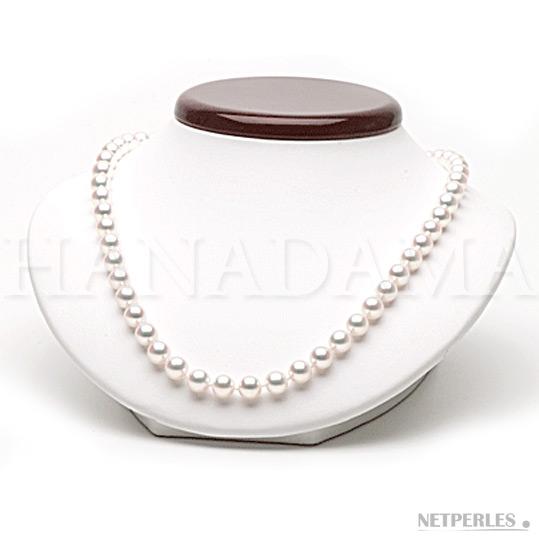 Collier de perles de culture Akoya classée HANADAMA