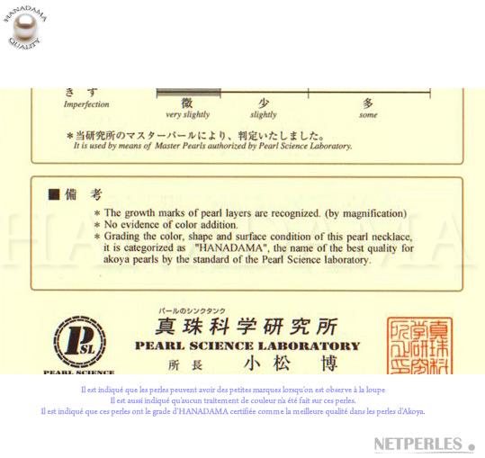 gros plan sur certificat du laboratoire des sciences du japon