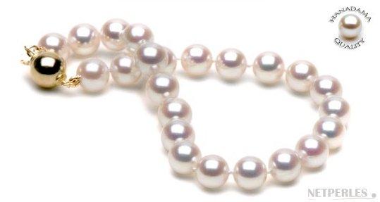 Bracelet de perles de culture Akoya Hanadama