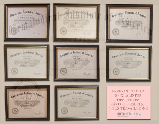 NETPERLES travaille avec plusieurs Experts auprès du G.I.A.