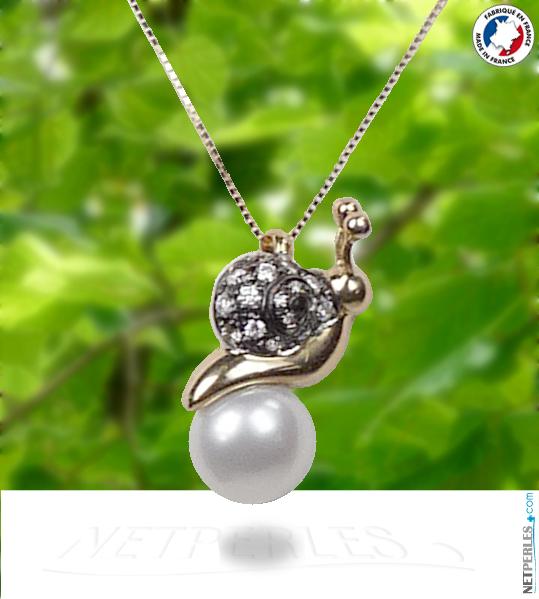 Collier perle d'eau douce qualité DOUCEHADAMA avec belire de luxe