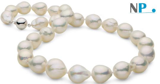 Collier de perles FIREBALL d'Eau Douce blanches! Des vraies perles rares!!