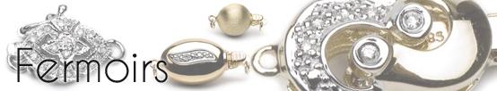 Fermoir en or 14 carats mat pour collier de perles de 10 mm