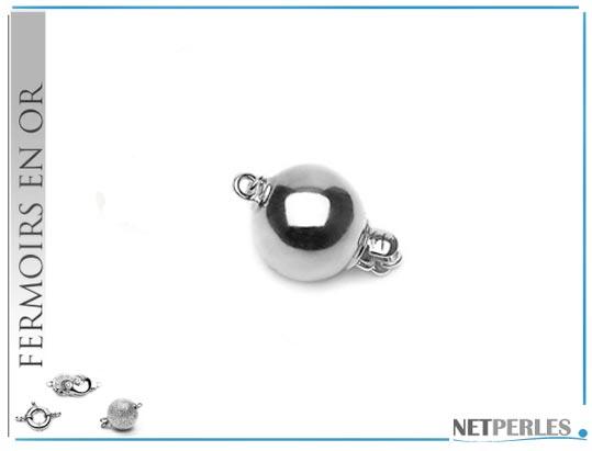 fermoir boule de securite en or gris brillant de 14 carats 8,0 mm de diamètre