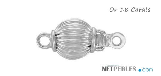 Fermoir en Or Gris 18 carats pour collier ou bracelet de perles de culture