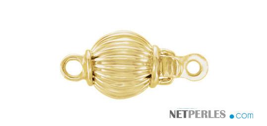 Fermoir en Or Jaune 14 carats pour collier ou bracelet de perles de culture