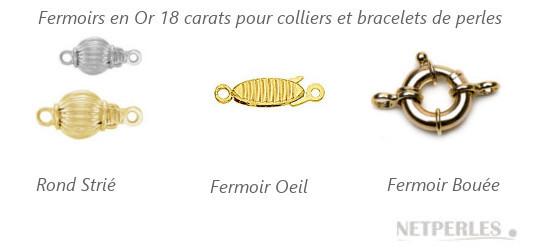 Fermoir de sécurité pour collier de perles de culture