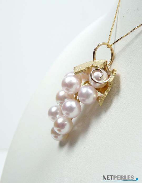bijou en or et perles de culture d'akoya