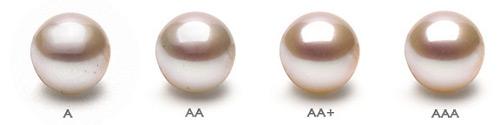 Lustro delle perle nelle varie qualità