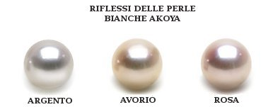 Orients des perles d'Akoya blanches