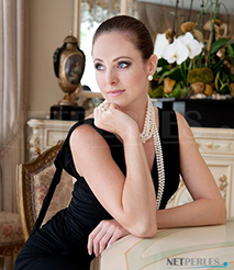 Collier de perles de culture d'Eau Douce - Tres belle perles d'eau douce pour des bijoux peu fragiles