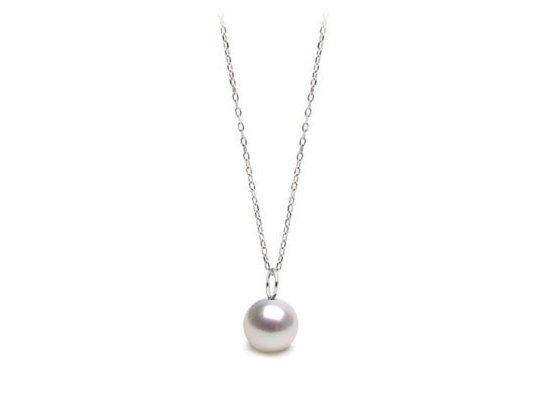 Pendentif MIGNON en Argent et perles d'Akoya blanche AAA