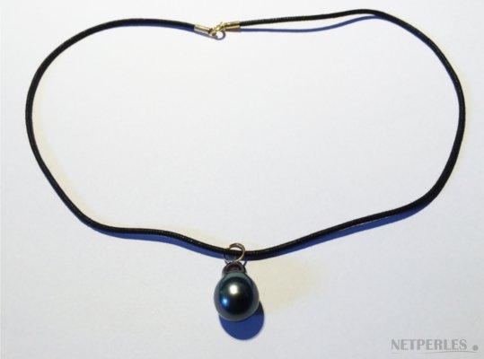 Pendentif avec Perle de culture de Tahiti baroque de forme poire