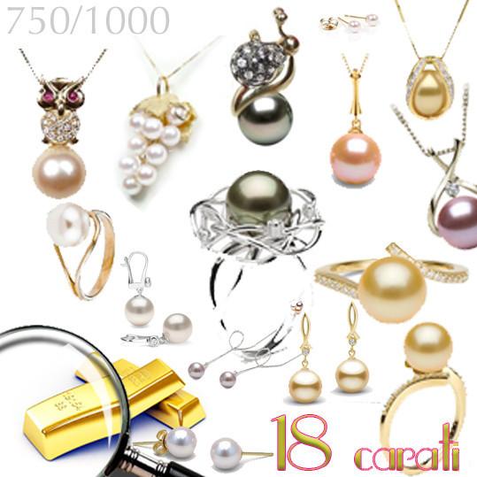Bijoux en Or 18 carats sur NETPERLES avec de vraies perles