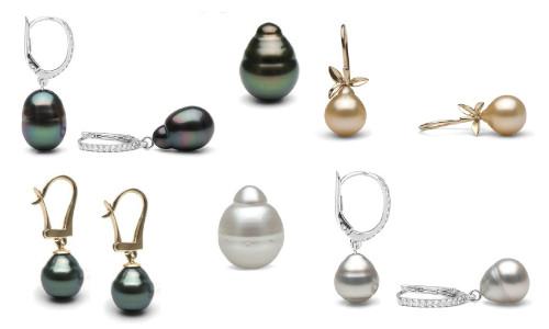 Boucles d'oreilles de perles baroques