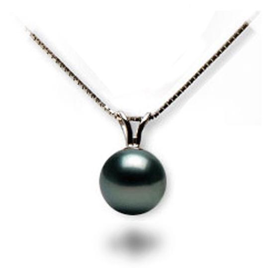 Pendentif perle d'Eau douce noire avec beliere Or Gris ou Jaune