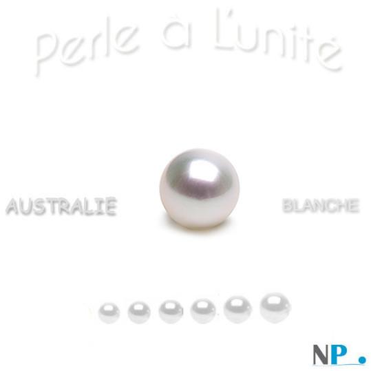 Perle de culture d'australie blanche argentee qualité AAA disponible de plusieurs diamètres